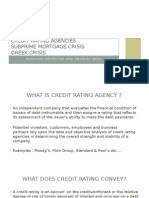Credit Rating Agencies , Greek Crisis, Financial Crisis 2008