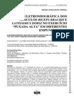 Análise Eletromiográfica Dorsal e Biceps - Puxada Ab e Supinada