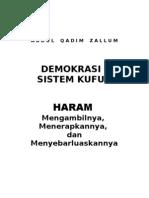 Demokrasi Sistem Kufur Haram Mengambilnya