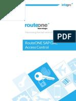 RouteONE SAP GRC Access Control June2015