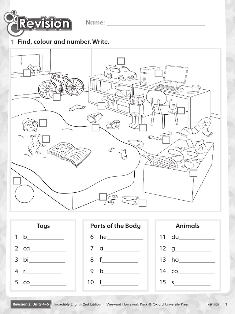 Workbooks the enormous turnip worksheets : Incredible Eng 1 Chp 4-6