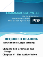 Grammar and Syntax