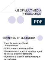 Chapter 3 - The Role of Multimedia in Education