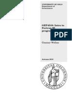 GEF4510 Fortran