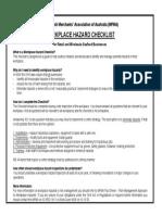 MFMA Workplace Hazard Checklist