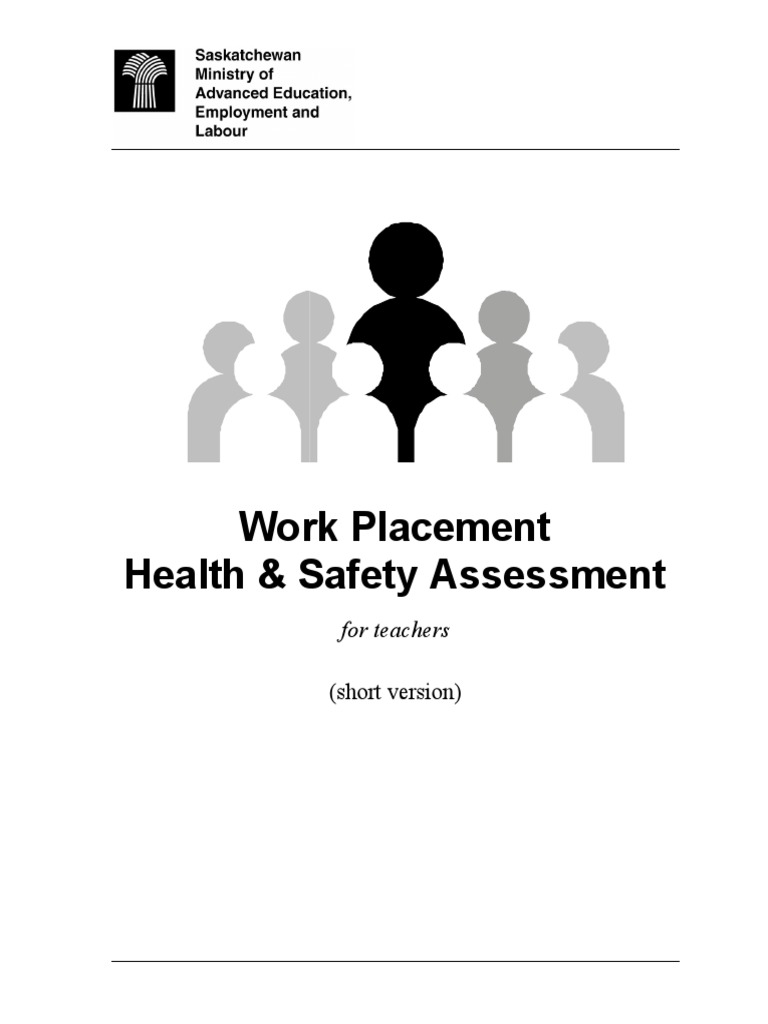 Work Placement Health Safety Checklist for Teachers