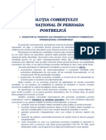 EVOLUŢIA COMERŢULUI INTERNAŢIONAL ÎN PERIOADA POSTBELICĂ.doc