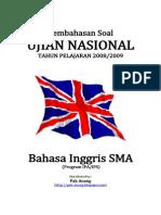Pembahasan Soal UN Bahasa Inggris SMA 2009