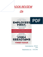 Employees First Consumer Second - Book Review