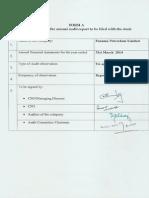 Panama petroleum India corporate annual report 2014