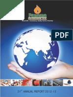 Panama petroleum India corporate annual report 2013