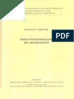 Tilmann Vetter - Erkenntnisprobleme bei Dharmakirti