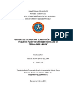 Sistema de adquisicion supervision y control de plantas de proceso