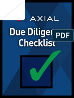 Axial Sample Due Diligence Checklist