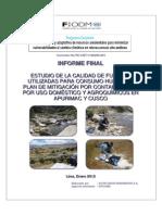 Estudio de La Calidad de Agua Para Consumo Humano