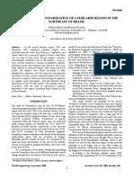 Artigo EVALUATION OF CONTAMINATION OF A SEMI-ARID REGION IN THE NORTHEAST OF BRAZIL 2008 309.doc