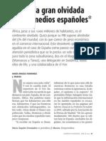 África, la gran olvidada de los medios españoles (Cuadernos de Periodistas, Abril 2009)