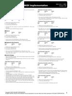 Roland KR 7 MIDi Implementation