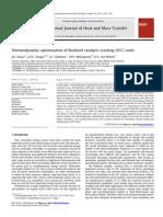 Thermodynamic optimization of fluidized catalytic cracking (FCC) units
