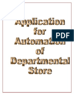 Application for Departental Store