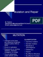 Efect of Mutation & Repair