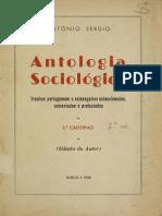 SÉRGIO, Antonio - Antologia Sociológica