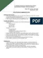 Program List BCA-606(JAVA) 2015