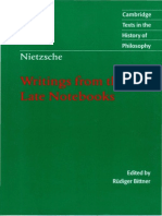 Friedrich Nietzsche-Writings From the Late Notebooks (Cambridge Texts in the History of Philosophy)-Cambridge University Press (2003)