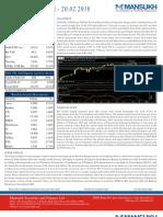 Weekly Market Outlook (22nd Feb 10- 26th Feb 10)