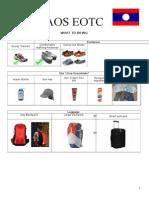 laos equipment list