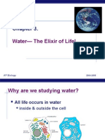 Water - The Elixir of Life