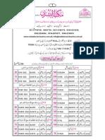 Maktaba Tul Bushra Pricelist PDF