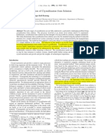 Dinámica molecular Cristalización