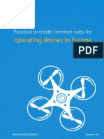Proposal to create common rules for operating drones in Europe