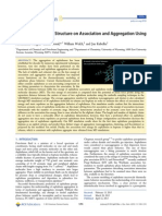 Effect of Asphaltene Structure on Association and Aggregation Using Molecular Dynamics