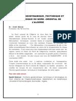 Contexte Geodynamique ,Tectonique Et Sismologique Du Nord Oriental de l'Algerie