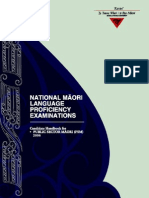 national maori language proficiency examinations