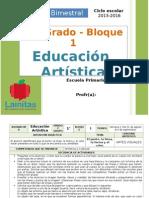 Plan 1er Grado - Bloque 1 Educación Artística