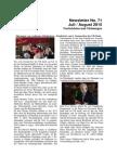Juli / August 2015 (Newsletter Nr. 71)