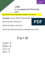 Factor is Ing