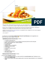 Tacos de Carne Receta