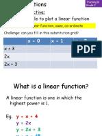 Linear Functions Yr10(1)