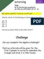 Quadratic Factor is Ing Non1
