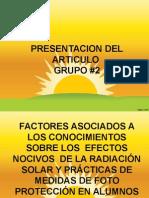 Articulo asociacion conocimientos efectos nocivos y practicas de fotoproteccion