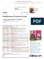 [Guía][Edit] Rango de Temperaturas Normales - Taringa!