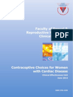 Contraceptive Choices Women Cardiac Disease 2014 RCOG ,UK
