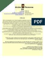 Revista Tradición Perenne 89