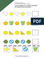 Corta y Pega Las Formas 6 Formas Editable