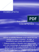 1ª Aula de Homeopatia