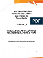 PROINTER II TECS2 Manual e Ficha Descritiva